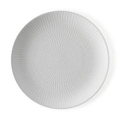 Brandani - Piatto piano collezione le granaglie colore bianco set 4 pezzi in stoneware