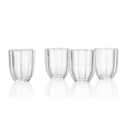 Brandani - Bicchiere raggio di sole trasparente set 4 pezzi in vetro