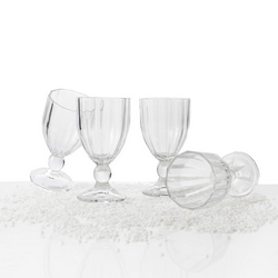 Brandani - Calice raggio di sole trasparente set 4 pezzi in vetro