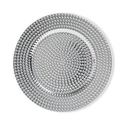 Brandani - Sottopiatto gocce argento set 4 pezzi in plastica pp
