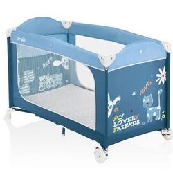 Brevi - Dolce Nanna Plus Lettino da viaggio con kit doppia altezza Colore Azzurro