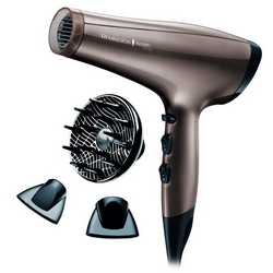 Remington - AC8000 Keratin Therapy Pro Dryer Ascigacapelli Professionale Potenza 2200 Watt Colore Marrone