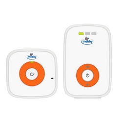 Mebby - 95137 Baby voice monitor digitale senza fili a due canali audio