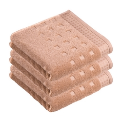 Vossen - Set 3 asciugamani in spugna 60x110 cm Colore Nocciola (Tibet)