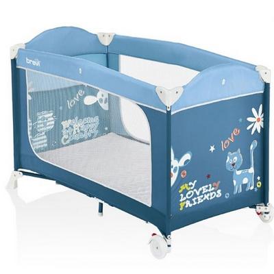 Dolce Nanna Plus Lettino da viaggio con kit doppia altezza Colore Azzurro